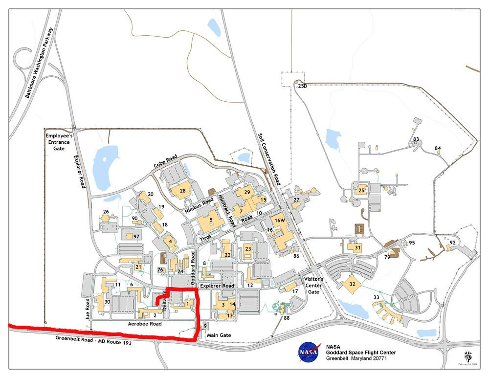 Goddard Campus Map.Nasa Gsfc Map Page 3 Pics About Space